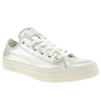 womens converse silver elevated glam ox trainers