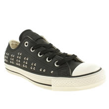 Black & Silver Converse Elevated Studs Ox