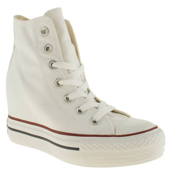 womens converse white all star platform plus hi trainers