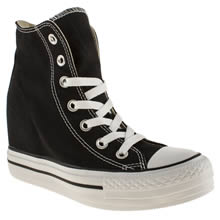 Black Converse All Star Platform Plus Hi