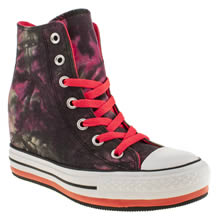 Black & White Converse Platform Plus Dye