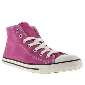 womens converse pink all star dainty mid ii trainers