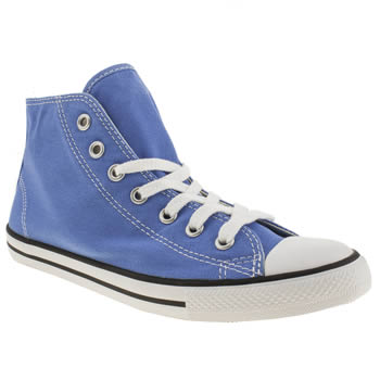 womens converse blue dainty mid ii trainers