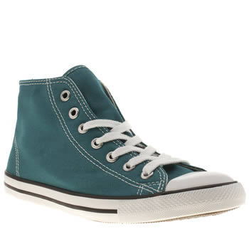 Womens Converse Turquoise All Star Dainty Mid Ii Trainers