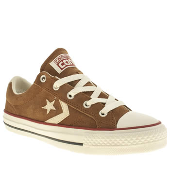 Womens Converse Brown Star Player Ev Oxford Suede Ii Trainers