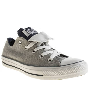 Converse Grey & Navy All Star Double Tongue Oxford Trainers