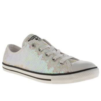 Converse White All Star Dainty Oxford Sequins Trainers