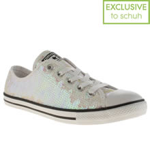 White Converse All Star Dainty Oxford Sequins