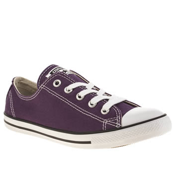 Womens Converse Purple All Star Dainty Oxford Canvas Trainers