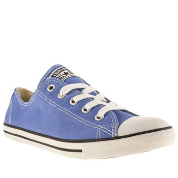 Womens Converse Blue All Star Dainty Ox Canvas Trainers