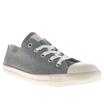 womens converse pale blue all star dainty ox trainers