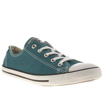 Womens Converse Turquoise All Star Dainty Canvas Ii Trainers