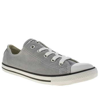 womens converse light grey all star dainty oxford canvas trainers