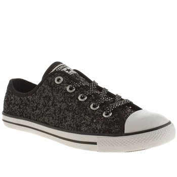 Converse Black & White All Star Dainty Oxford Sparkle Trainers