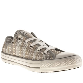 Converse White & Silver Vii Sequins Trainers