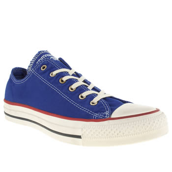 Womens Converse Blue All Star Ox Vii Well Worn Trainers