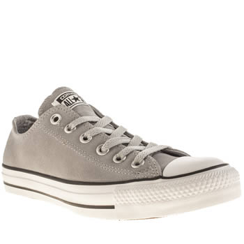 Converse Light Grey Suede Trainers