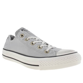 womens converse light grey all star oxford well worn trainers