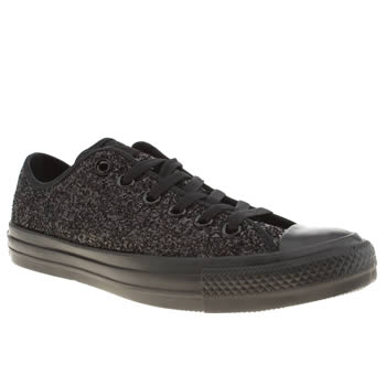 Converse Black All Star Oxford Glitter Trainers