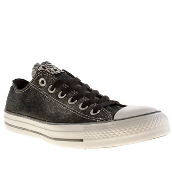 Converse Black Vii Sparkle Wash Trainers