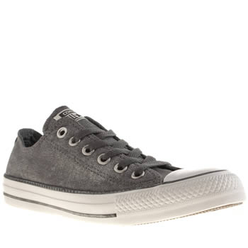 Converse Grey Sparkle Wash Trainers