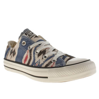 Converse Stone & Black All Star Oxford Blanket Trainers