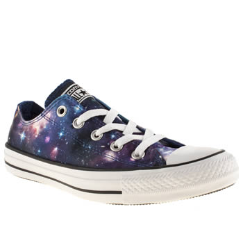 womens converse black & purple ox vii galaxy trainers