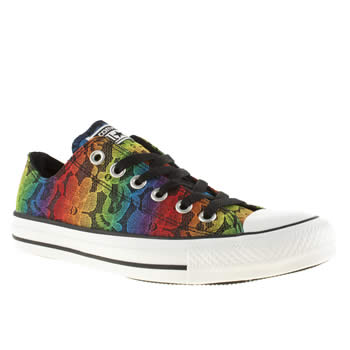 Womens Converse Multi Ox Vii Rainbow Lace Trainers