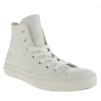 Converse White All Star Hi Leather Trainers