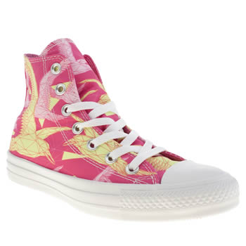 Womens Converse Pink All Star Hi Vi Birds Trainers