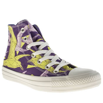 Womens Converse Purple All Star Hi Vi Birds Trainers
