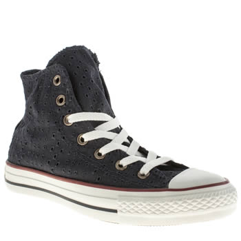 Converse Navy All Star Hi Eyelet Cut Out Trainers