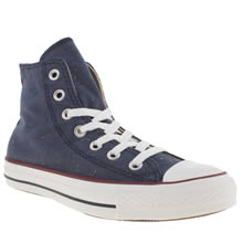 Navy & White Converse All Star Hi Vi Speckled Jersey