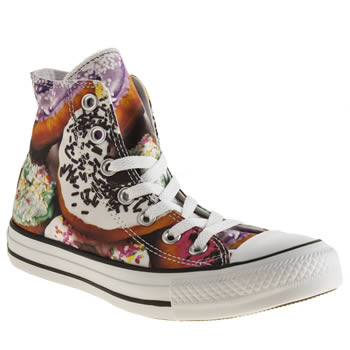 Womens Converse Multi All Star Hi Donut Trainers
