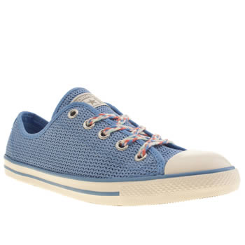Womens Converse Pale Blue All Star Dainty Summer Ox Trainers