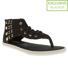 Black & Gold Converse Stud Gladiator