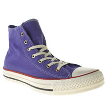 Purple Converse Well Worn Hi