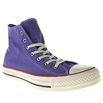womens converse purple well worn hi trainers