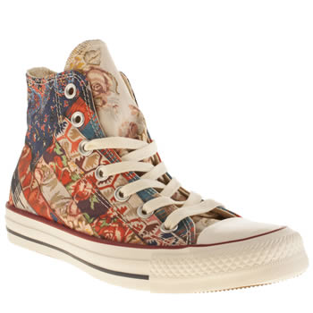 Womens Converse Multi All Star Hi Tribal Photo Trainers