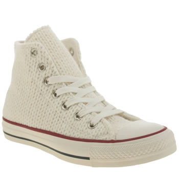 Converse Stone All Star Winter Knit Hi Trainers