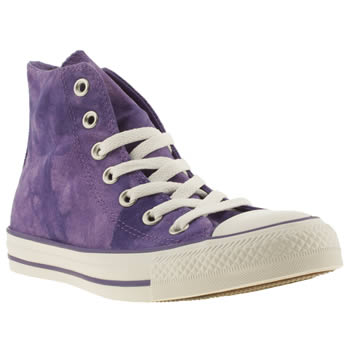 womens converse purple tie-dye hi vii trainers