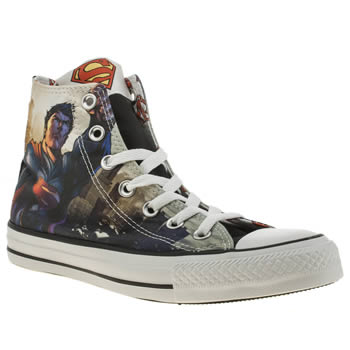 Converse Navy & Red All Star Superman Hi Trainers