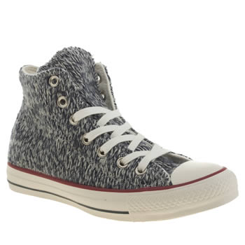 Converse Navy All Star Winter Knit Hi Trainers