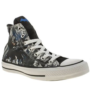 Converse Black & Grey All Star Batman Hi Trainers