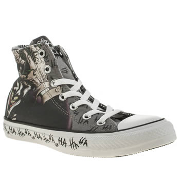 Womens Converse Grey & Black All Star Joker Hi Trainers