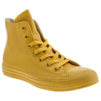 Converse Yellow All Star Hero Rubber Hi Trainers