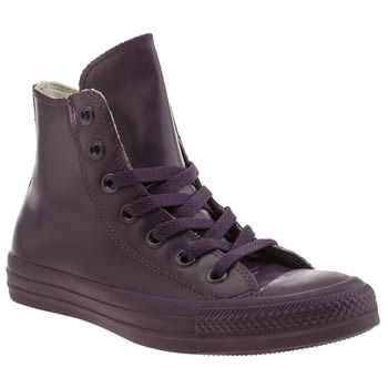 Converse Purple Hero Rubber Hi Trainers