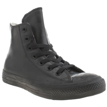 Converse Black All Star Hero Rubber Trainers