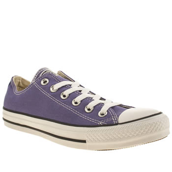 Womens Converse Purple All Star Oxford Trainers