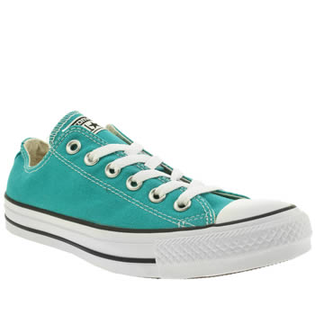 Womens Converse Turquoise All Star Oxford Trainers
